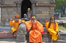 Sadhu's at Pashupatinath Temple, Kathmandu (whether they're legit Sadhu's is questionable)