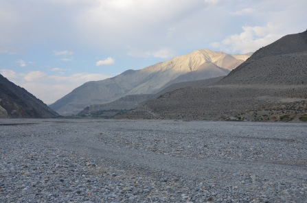 Kali Gandaki - my favourite river in Nepal. Flows through from Tibet and the silt-rich soil turns the water black. Really beautiful.