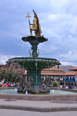 Pachacutec , also known as Shaker of the Earth, in the Plaza del Armas, Cusco