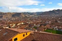 Cusco, Peru. Remnants of the ancient Incan city still remain. The Spanish demolished most of it but you can still spot the ancient foundations here and there