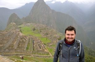 Cheesy tourist shot of me and Machu Picchu