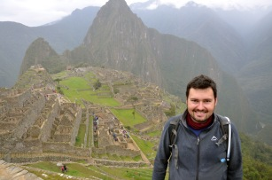 Cheesy tourist shot of me and Machu Picchu