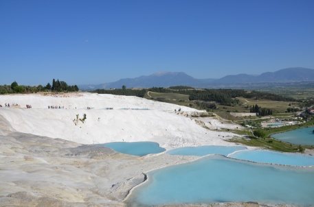 Travertine pool in Pamukkale