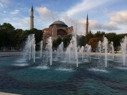 Hagia Sophia - first a church, then a mosque, now a museum. My favourite attraction in Istanbul