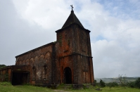 The abandoned church in the Bokor National Park