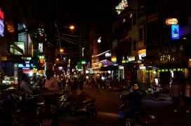 Night life in Ho Chi Minh City