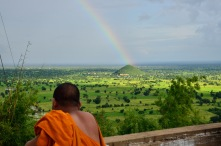 Battambang below after a cloud burst