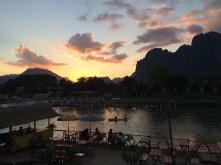 Another beautiful sunset in Vang Vieng